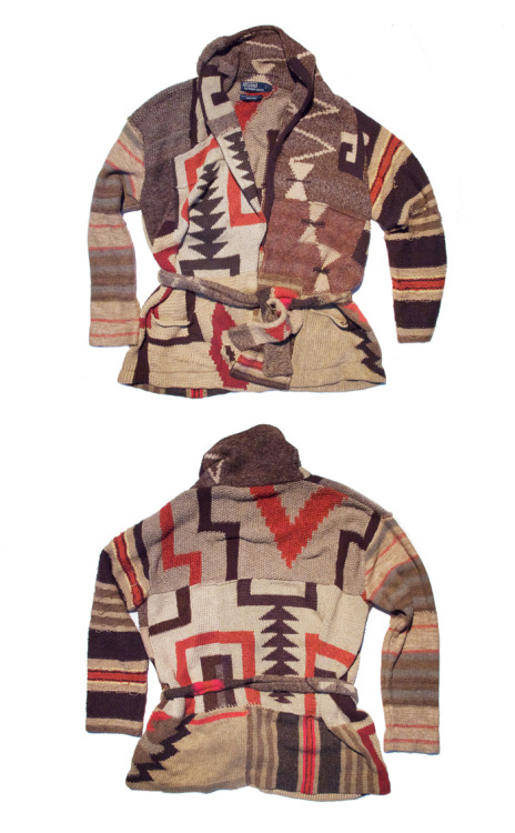 POLO RALPH LAUREN NAVAJO SHAWL SWEATER (88-KEYS)