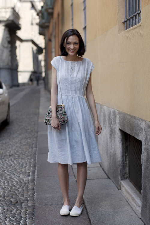 nickelcobalt:  (via The Sartorialist: On the Street….via del Carmine, Milan)