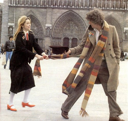 Lalla Ward and Tom Baker (Romana II and the 4th Doctor from Doctor Who in the 1970s)