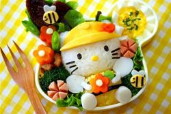 Another Hello Kitty Bento :3 yum yum yum :'9