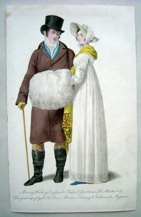 Le Beau Monde, 1807 What a charming couple!