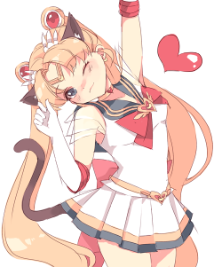 atashi-wa-neko-desu:  moonlightmiracle:  Sailor Kitty Moon?  YES.