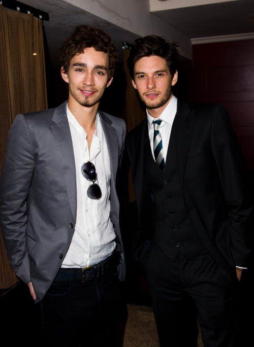 fuckyeahukboys:  Ben Barnes - London, England; 29[with Robert Sheehan - Portlaoise, County Laois, Ireland; 23] Ask and ye shall receive: Leelee