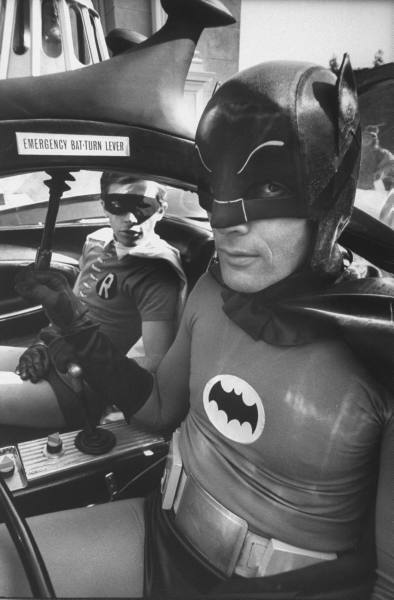 The Dynamic Duo in the Batmobile
