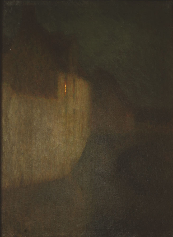 Henri Le Sidaner (1862-1939) By the light of the moon in Bruges, 1898-99. Thank you, amare-habeo.