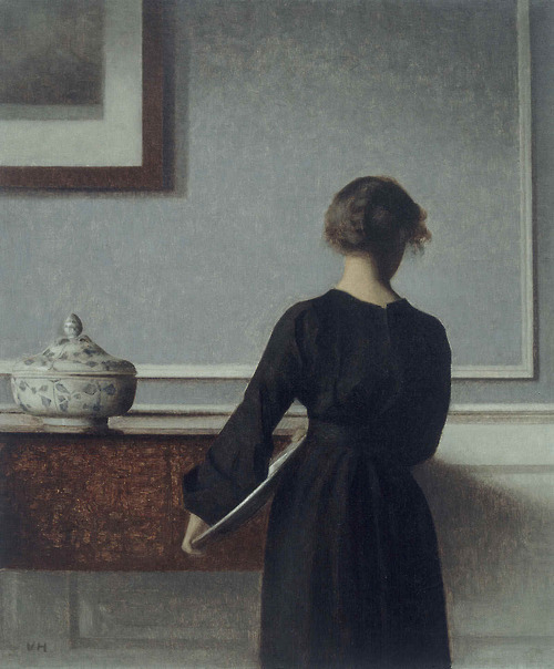 enchanting:  Interior with Young Woman from Behind (1904)