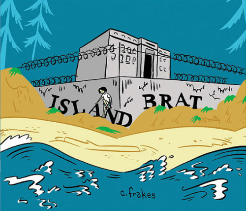 Colleen Frakes' new book Island Brat was another Koyama Press TCAF debut that I was lucky enough to see a week earlier when she was part of the Indie Spinner Rack Izzer Alley at CGS Super Show in Reading, PA.