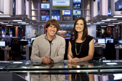 Two Syracuse University grads: Dennis Crowley and Contessa Brewer.