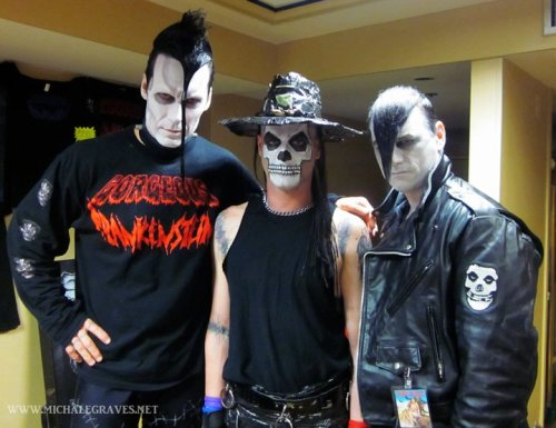 Doyle, Michale Graves, & Dr. CHUD together at Chiller Theatre 2011
