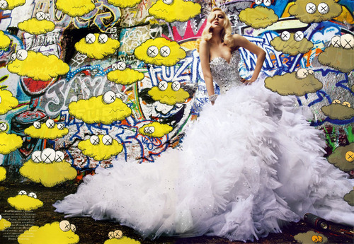 Raquel Zimmerman, Vogue Paris 2009, Graffiti Couture. Lovely gown!!