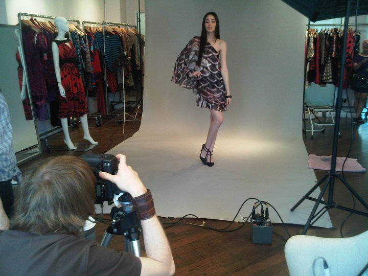 Behind the scenes at Tracy Reese;Holiday '11 LookBook Shoot.