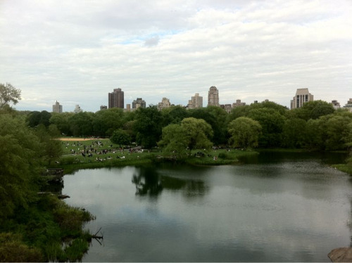 Kicking it at the Central Park lake