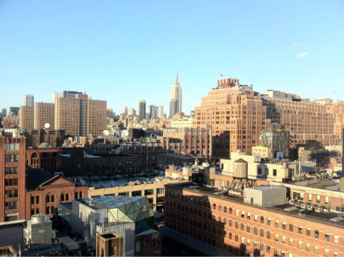 My view of midtown from the Standard Hotel