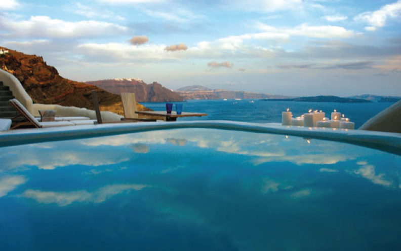 Travel Inspiration: I'd love to visit the Mystique Hotel in Santorini.  looks like Heaven.