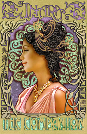 Another sci-fi Art Nouveau homage, this time Firefly's Inara Serra. (from 11th Hour Art)