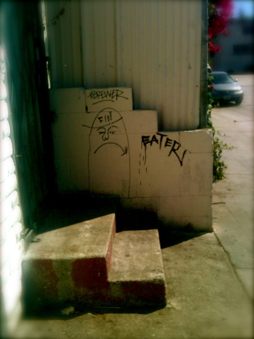 This made me smile.   Location: Sunset and LaVetta Terrace  Artist: Unknown Photo: SusannahAnnaOh