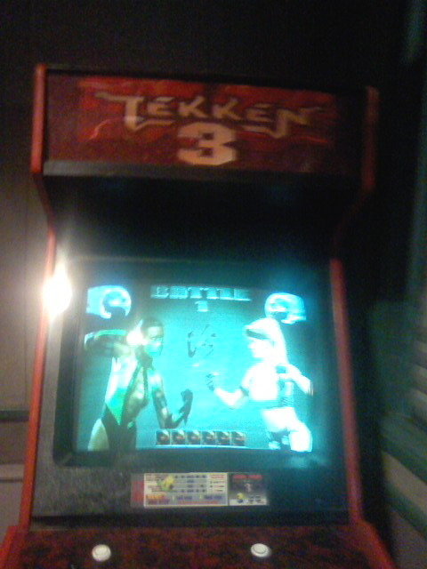 I forgot where we were, but yep. lmao. It was a tekken 3 game cabinet but the game was not tekken, it was mortal kombat…