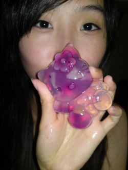 kitty shape jelly =)