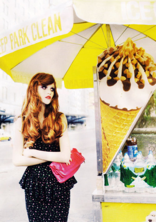 The Hair! Cintia Dicker photographed by Ellen Von Unwerth for Lula.