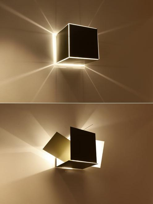 ianbrooks:  Modular Lights by Robert Hoffman Modular Lights are adjustable lamps with sides that can be tilted in multiple directions for preferred lighting optimization. They're more than meets the eye…. as in, they transform from one oddly-shaped lamp to an altogether different shaped lamp. :::transformer noise:::  (via: design-milk)