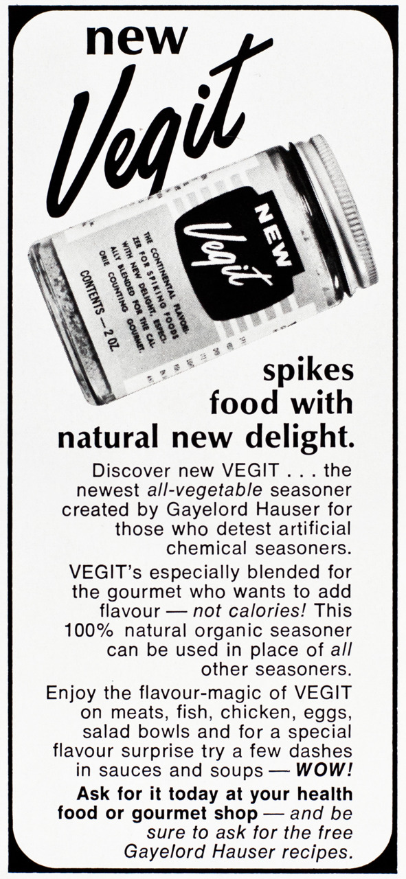 Vegit Advertisement - Gourmet: May 1973
