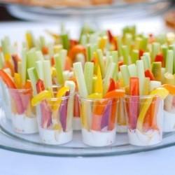 (via Great party idea! Veggie and dip in cups)