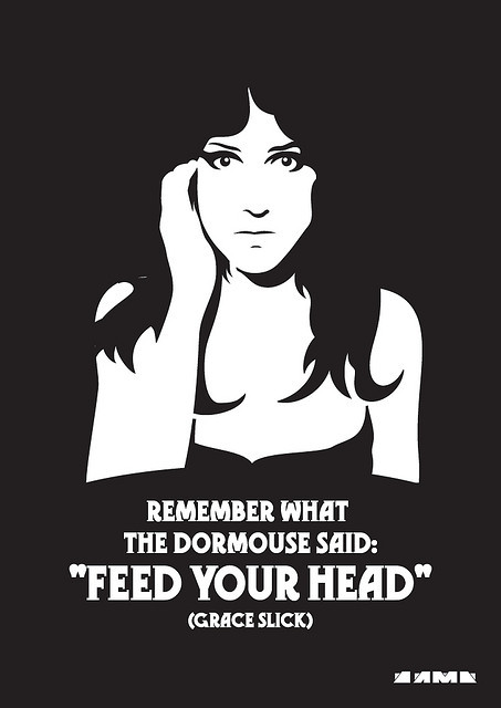 Grace Slick - stencil by D3516N on Flickr. Via Flickr: Tribute to Jefferson Airplane p.s - Dormouse.