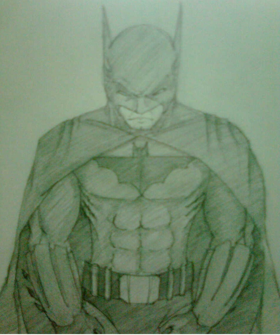 I was bored… So I did a Batman. :D