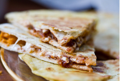 Easy cheesy vegan quesadillas! Eat them and grow fat with happiness! And fat!