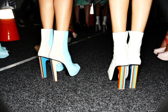 shoekitten:  Josh Goot Booties for Nyan Cat via statementshoes photo by Sonny Vandevelde