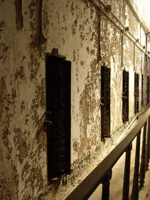 Paint-chipped Cellblock in Eastern State Penitentiary