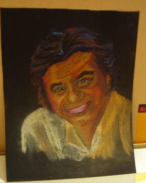 This was one of only a few attempts to do portraiture with chalk pastels. I found them extremely messy, got all over my hands, fingers, and floor/rug/whatever I was working on. Plus, getting a true likeness, the way I like to do it, was a fail. So, not a favorite medium. But, I wouldn't have found out I hated it if I hadn't tried working with it. Oil pastels are much neater.