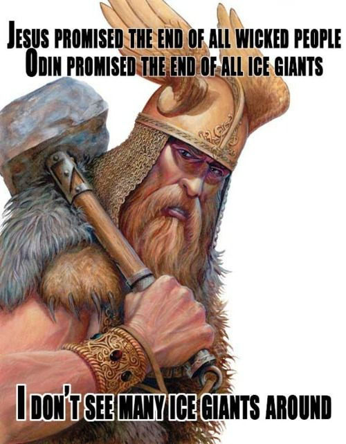 sirmitchell:  Can't argue with that.  Good point, but thats Thor not Odin… also the anatomy is a bit wonky :/