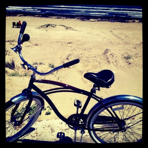 Bike riding with Daddy  (Taken with Instagram at Galveston Seawall)