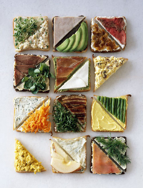 A mashup of design, photography, and sandwich ingredients. Mmm. Sandwiches by Charles Schiller