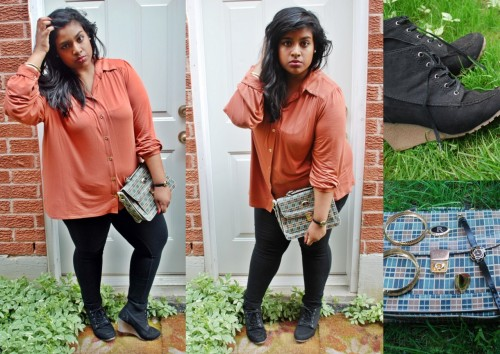 Fashion Friday: Lust for Rust. [Outfit Details.] ALSO, it has come to my attention that there is a brand spankin' new plus size fashion tumblr- you should all check out and submit to FuckYeahFatshion! :] <33