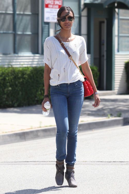 Zoe Saldana in Beverly Hills — May 11, 2011