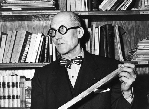 Le Corbusier (bow tie & glasses) stylish work, stylish man