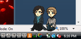 They're sitting there. At the corner of my screen. So cute.