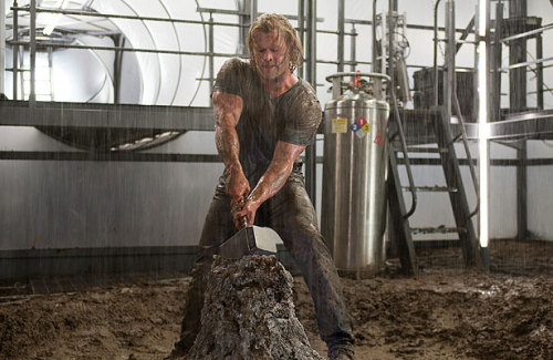 Chris Hemsworth movie still from THOR