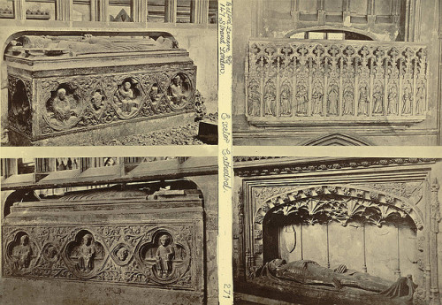 "Henry Bedford Lemere, ""Exeter Cathedral Tombs,"" ca. 1865-85. Source: Cornell University Library on Flickr."
