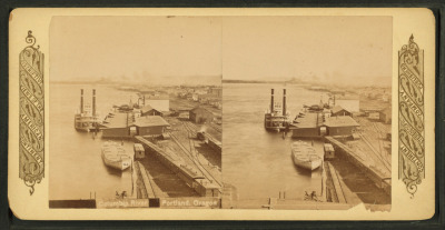 A stereoscopic view of the Columbia River.