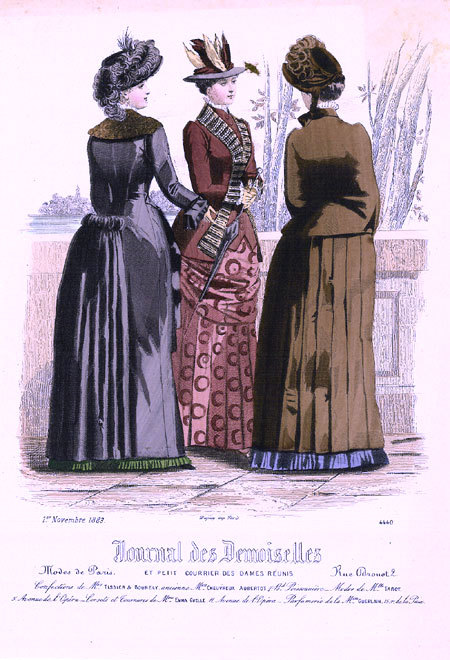 Fashion plate, 1883 France, Journal des Demoiselles