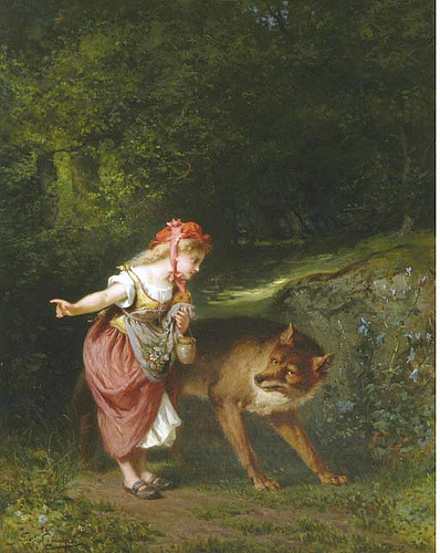"Eugene Joseph Lejeune (1818-1897), ""Little red riding hood"" (by sofi01)"