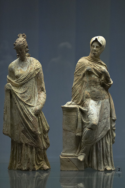 statues in museum of Paestum