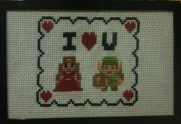 Link and Zelda 'I Heart You' $15
