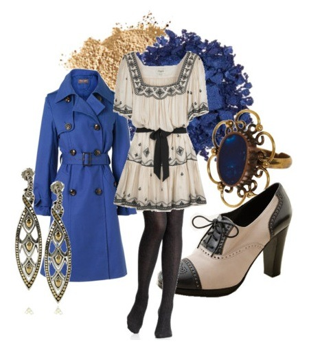 omgthatdress:  http://kaishabackwards.tumblr.com/  Ravenclaw-inspired outfit. I'm so sad the Temperly dress in the middle is $900.