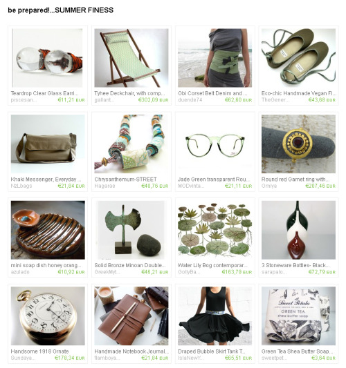 be prepared!…SUMMER FINESSby sunsan http://www.etsy.com/treasury/4dce9ad451fa6d91482f6142/be-preparedsummer-finess?ref=pr_treasury