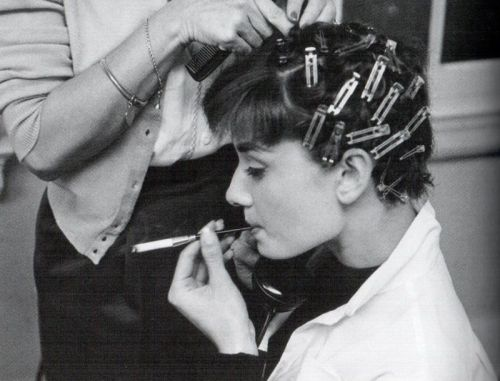 AUDREY IN PIN CURLS!