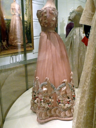 ornamentedbeing:  Russian Court Gown  Unfortunately this is only the side of it, but look at the detail! Fabulous!
